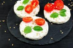 Gâteaux de riz sains Images libres de droits