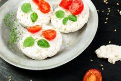 Gâteaux de riz sains Photographie stock