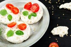 Gâteaux de riz sains Photos stock