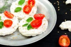 Gâteaux de riz sains Photos libres de droits