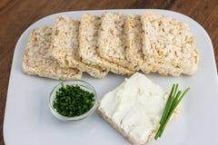 Gâteaux de riz servis Photo stock