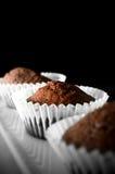 Gâteaux de Savoie de chocolat Photo libre de droits