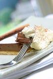 Gâteaux de tarte de chocolat Photos libres de droits