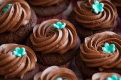 Gâteaux de tasse de chocolat Photos stock