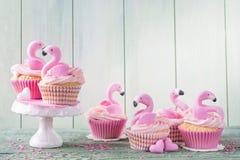 Gâteaux de tasse de flamant Photographie stock libre de droits