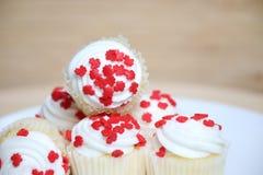 Gâteaux de tasse de jour du Canada photographie stock