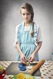 Gâteaux de traitement au four Photographie stock libre de droits