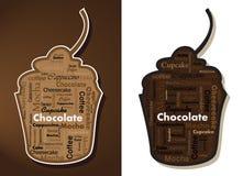 Gâteaux de typographie Image stock