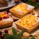 Gâteaux de vacances de Noël photo libre de droits