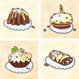 Gâteaux de vacances réglés Photos stock