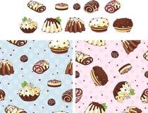 Gâteaux de vacances réglés Photo libre de droits