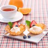 Gâteaux de yaourt Image stock