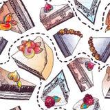 Gâteaux doux Image libre de droits