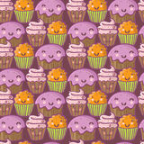 Gâteaux drôles de dessin animé Photo stock
