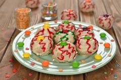 Gâteaux drôles pour Halloween Image libre de droits