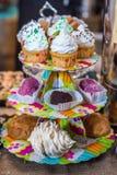 Gâteaux et gâteaux Images stock