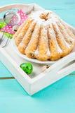 Gâteaux et lapins de Pâques Images libres de droits
