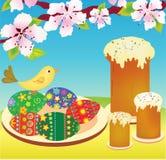 Gâteaux et oeufs de Pâques Images libres de droits