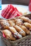 Gâteaux et pastèque Photo libre de droits