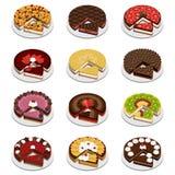 Gâteaux et secteurs Photographie stock