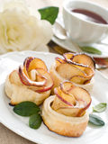 Gâteaux et thé Images libres de droits