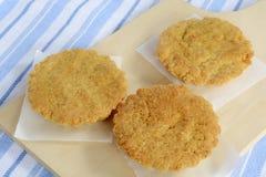 Gâteaux gratuits d'amande de gluten Photographie stock libre de droits
