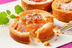 Gâteaux remplis petite par pomme Photographie stock