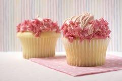 Gâteaux roses Photo libre de droits