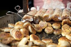 Gâteaux savoureux à vendre dans la vieille ville de Tunxi, province d'Anhui, Chine Image libre de droits