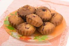 Gâteaux savoureux de cerise Photo stock