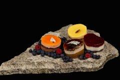 Gâteaux sur la pierre Image libre de droits