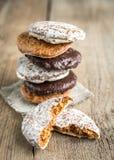 Gâteaux vitrés de pain d'épice Photographie stock