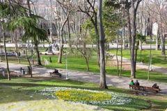 GÃ ¼ lhane公园,伊斯坦布尔 免版税库存照片