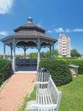 Góruje przy Montauk sześć opowieści buduje Montauk Nowy Jork Hamptons obraz stock