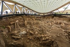 Göbeklitepe археологическое место раскопк которое locat стоковые изображения rf