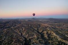göreme da excursão dos ballons de Cappadocia imagem de stock royalty free