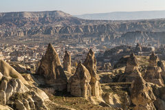 Göreme view with valley and mountains Royalty Free Stock Images