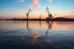 Göta älv solnedgång royaltyfria bilder