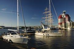 Göteborg (Gothenburg) harbor Royalty Free Stock Image