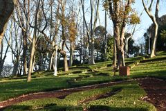 GÃ-¼lhane Parkı Ä°stanbul, Turkiet Royaltyfri Foto
