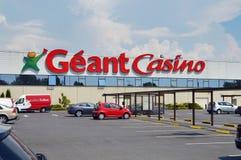 Géant kasinostormarknad arkivbild