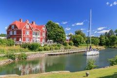 Götakanal i Borensberg Fotografering för Bildbyråer