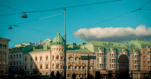 Göteborg - schwedische weiße Architektur Lizenzfreie Stockfotografie