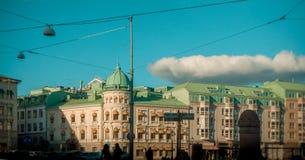 Göteborg - Szwedzka biała architektura fotografia royalty free