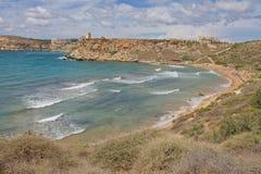 Għajn Tuffieħa Lizenzfreies Stockfoto