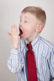 Gähnendes Kind Lizenzfreies Stockfoto