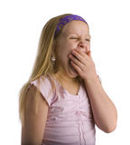 Gähnendes Mädchen Stockfoto