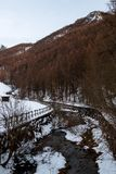 Gämsen-Strom, Gämse, Italien stockfoto