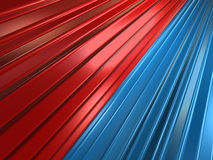 Gänge des blauen Rotes stockfotografie