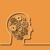 Gänge im menschlichen Kopf, Denkprozess Vektor vektor abbildung